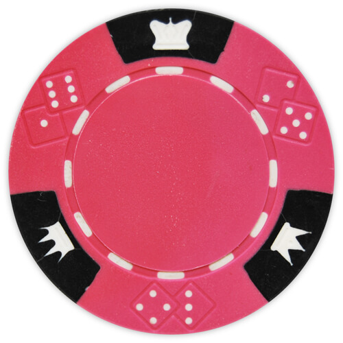 Crown & Dice - Pink Clay Poker Chips