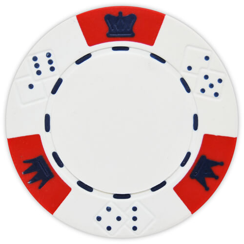 Crown & Dice - White Clay Poker Chips