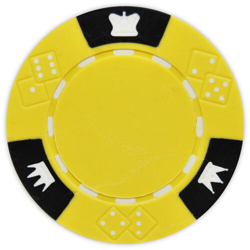 Crown & Dice - Yellow Clay Poker Chips