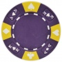 Ace King Suited - Purple Clay Poker Chips