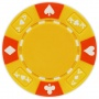 Ace King Suited - Yellow Clay Poker Chips