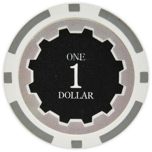 Eclipse - $1 Gray Clay Poker Chips