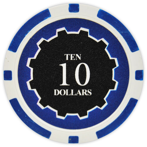 Eclipse - $10 Blue Clay Poker Chips