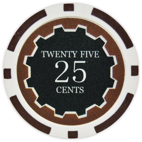 Eclipse - 25¢ Brown Clay Poker Chips