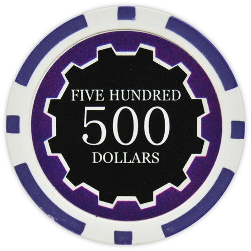 Eclipse - $500 Purple Clay Poker Chips