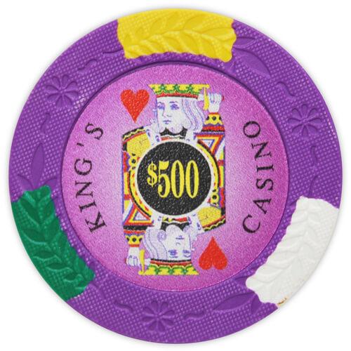 King's Casino - $500 Purple Clay Poker Chips