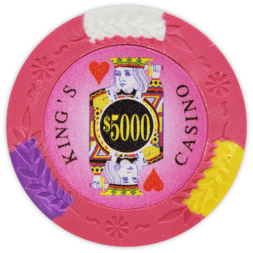 King's Casino - $5000 Pink Clay Poker Chips