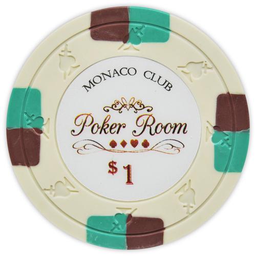 Monaco Club - $1 Ivory Clay Poker Chips