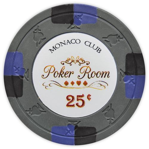 Monaco Club - 25¢ Gray Clay Poker Chips