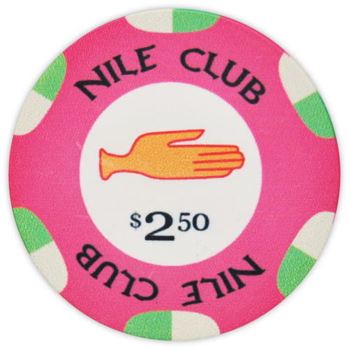 Nile Club - $2.50 Pink Ceramic Poker Chips