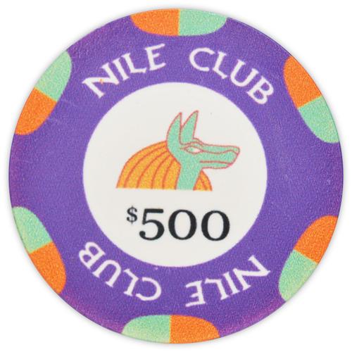 Nile Club - $500 Purple Ceramic Poker Chips