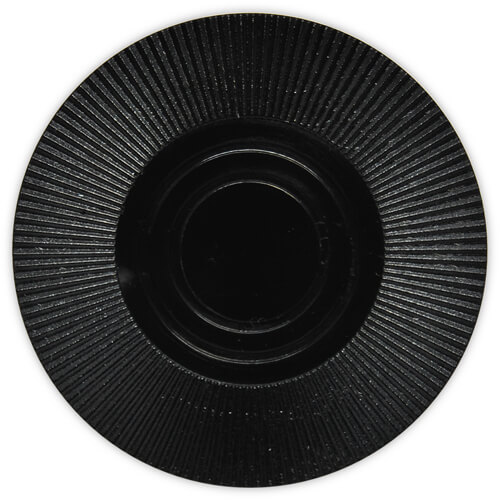 Radial Interlocking - Black Plastic Poker Chips