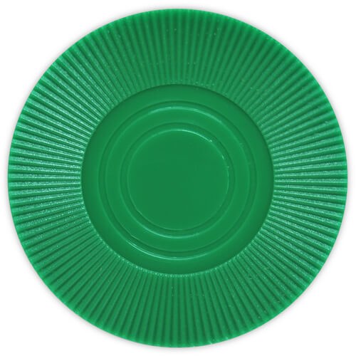 Radial Interlocking - Green Plastic Poker Chips