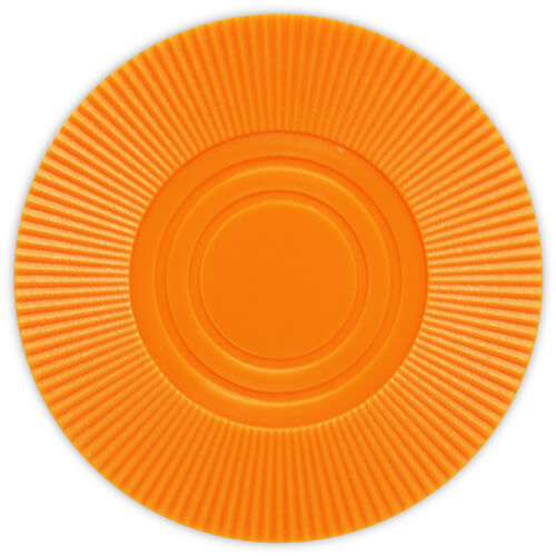 Radial Interlocking - Orange Plastic Poker Chips