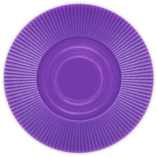 Radial Interlocking - Purple Plastic Poker Chips