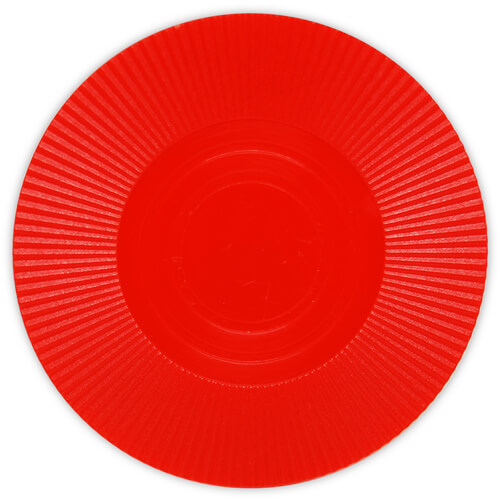 Radial Interlocking - Red Plastic Poker Chips