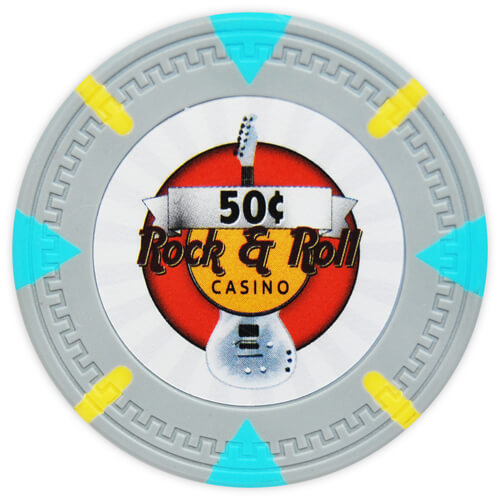 Rock & Roll - 50¢ Gray Clay Poker Chips