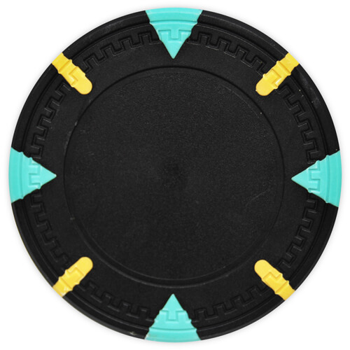 Triangle & Stick - Black Clay Poker Chips