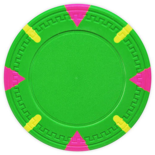 Triangle & Stick - Green Clay Poker Chips