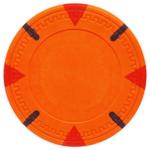 Triangle & Stick - Orange Clay Poker Chips