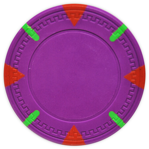 Triangle & Stick - Purple Clay Poker Chips
