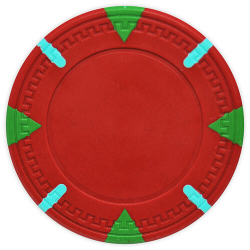 Triangle & Stick - Red Clay Poker Chips