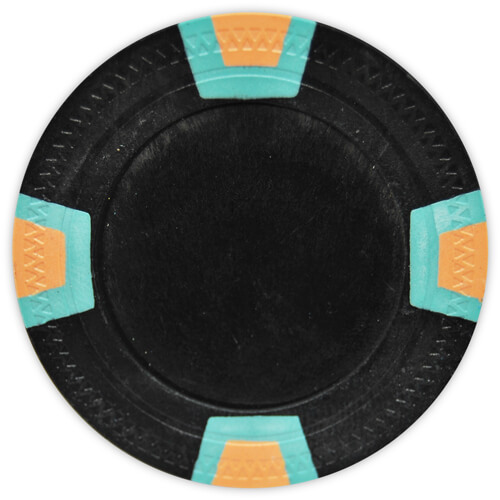 Double Trapezoid - Black Clay Poker Chips