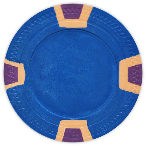 Double Trapezoid - Blue Clay Poker Chips