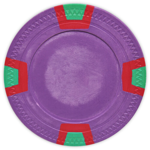Double Trapezoid - Purple Clay Poker Chips