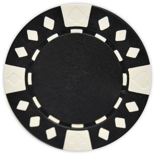 Diamond Suited - Black Clay Poker Chips