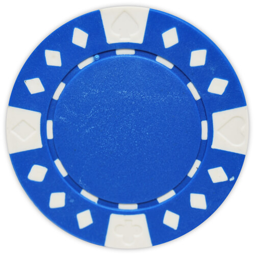 Diamond Suited - Blue Clay Poker Chips