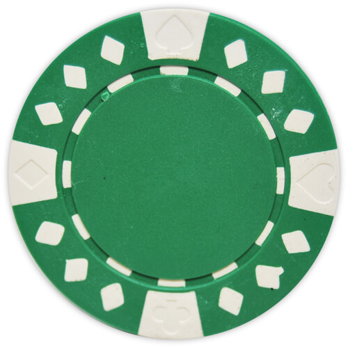 Diamond Suited - Green Clay Poker Chips