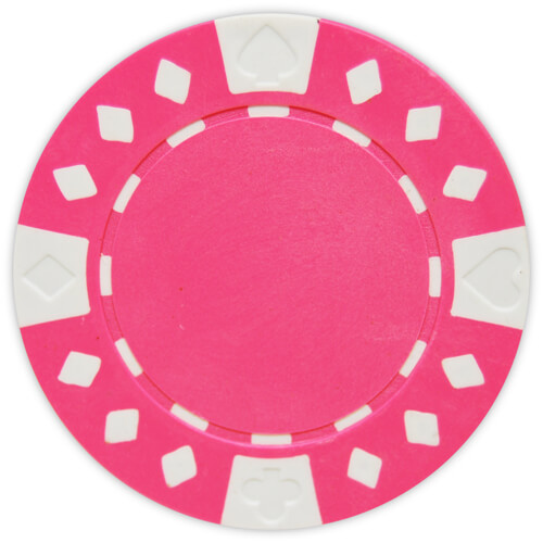 Diamond Suited - Pink Clay Poker Chips
