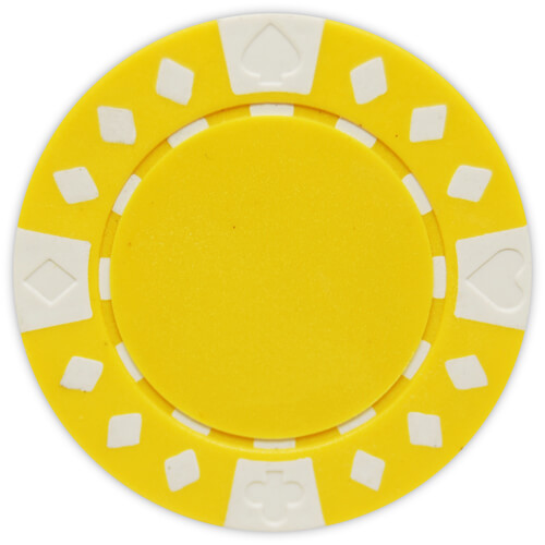 Diamond Suited - Yellow Clay Poker Chips
