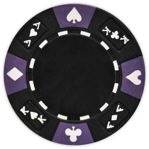Ace King Suited - Black Clay Poker Chips