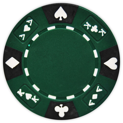 Ace King Suited - Green Clay Poker Chips