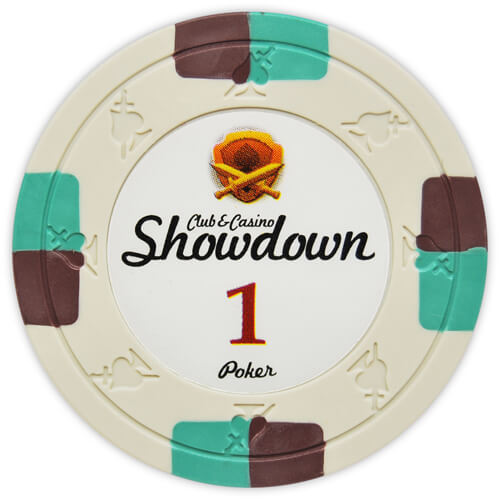 Showdown - $1 Ivory Clay Poker Chips