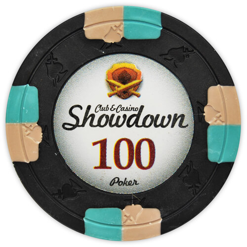 Showdown - $100 Black Clay Poker Chips