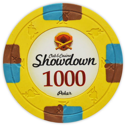 Showdown - $1000 Yellow Clay Poker Chips