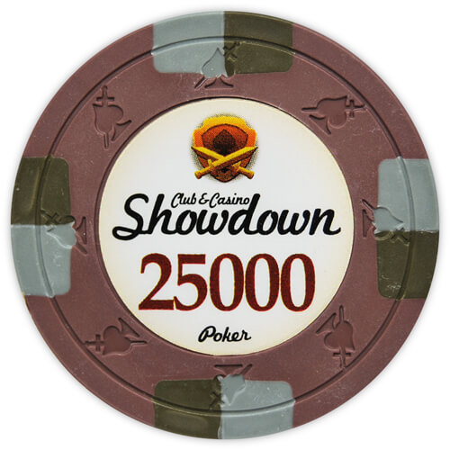 Showdown - $25000 Brown Clay Poker Chips