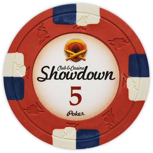 Showdown - $5 Red Clay Poker Chips
