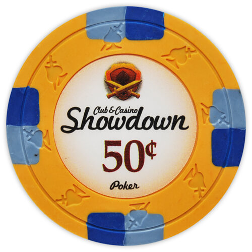 Showdown - 50¢ Orange Clay Poker Chips