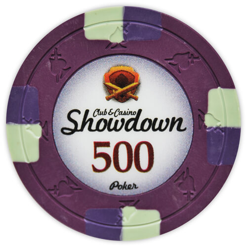 Showdown - $500 Purple Clay Poker Chips