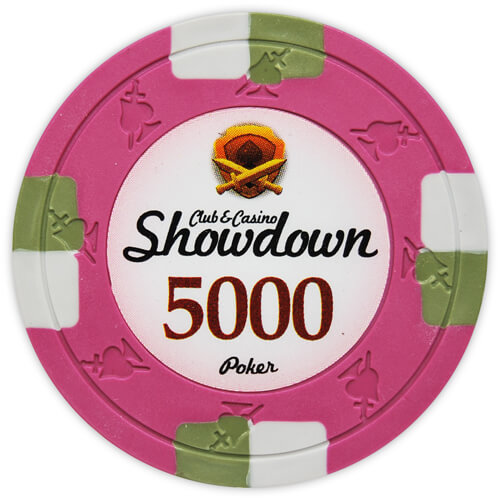 Showdown - $5000 Pink Clay Poker Chips