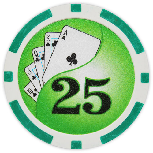 Yin Yang - $25 Green Clay Poker Chips