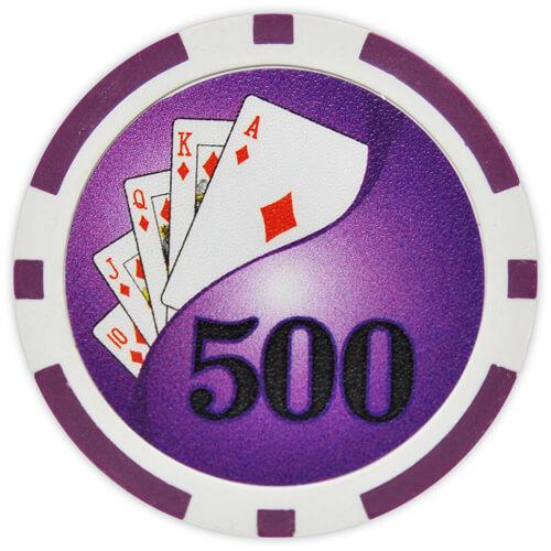 Yin Yang - $500 Purple Clay Poker Chips