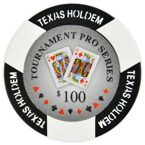 Tournament Pro - $100 Black Clay Poker Chips