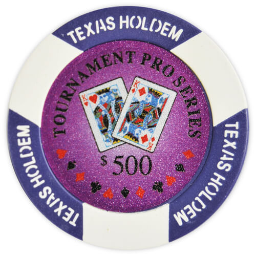 Tournament Pro - $500 Purple Clay Poker Chips