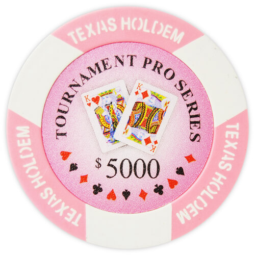 Tournament Pro - $5000 Pink Clay Poker Chips