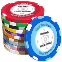 Multi-Stripe Custom Poker Chips